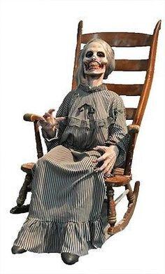 Creepy Psycho Mother Animated Halloween Horror Prop