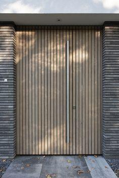 Make your door unique with this amazing Door Pulls. Villa Design, Loft Design, Gate Design, Bungalow, Contemporary Front Doors, Outdoor Doors, Wooden Door Design, House Doors, Entrance Doors