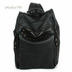 Style chic en cuir sac à dos  noir par studio731 sur Etsy