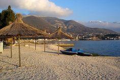 Plavi Horizonti Beach, Tivat, Montenegro Tivat Montenegro, Sun Lounger, To Go, Beach, Places, Outdoor Decor, Blog, Travel, Life