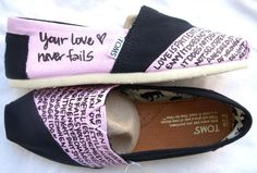 Custom made TOMS with bible verses...on etsy!