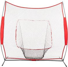 Discounted AmazonBasics Baseball Softball Hitting Pitching Batting Practice Net With Stand - 96 x 42 x 86 Inches, Red and Black #AmazonBasicsBaseballSoftballHittingPitchingBattingPracticeNetWithStand-96x42x86Inches #RedandBlack Baseball Training, Sports Training, Training Equipment, Solo Player, Batting Tee, Improve Confidence, Softball Coach, Reds Baseball