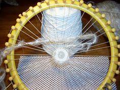 HeartSong Studio: Needle Weaving on a Circular Loom