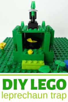 Make a LEGO leprechaun trap to catch a leprechaun this Saint Patrick's Day! This is an easy and fun project for kids! #leprechauntrap #legoleprechauntrap #leprechauntrapideas Leprechaun Trap, Lego, Legos