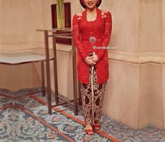 #kebaya #red @verakebaya