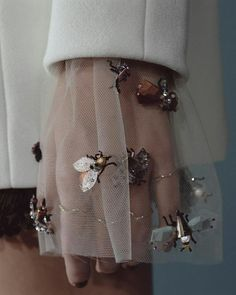 Nothing prettier than embroidered tulle - so lightly
