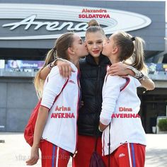 Alexandra SOLDATOVA (In the middle), Arina AVERINA (Left) & Dina AVERINA (Right). All Russian gymnasts @ OG Rio De Janeiro-Brasil 2016 ❤️❤️ Photographer Oleg Naumov.