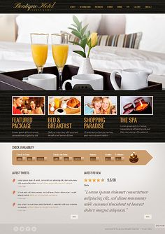 Template 37951 - Boutique Hotel Website Template