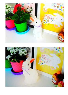 토끼 램프 Woodland Rabbit Night Light #bunnyinabow