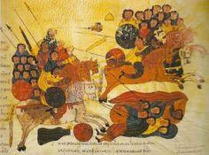 Biblia de San Isidoro de Leon, Biblioteca, Colegiata S. Isidoro, Leon, 960 - Victory of the Israelites over the Philistines at Carmel