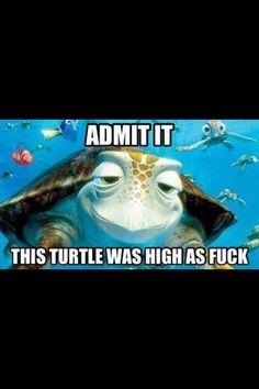 This turtle was high (finding nemo,pixar) Disney Pixar, Walt Disney, Disney Love, Disney Magic, Disney Stuff, Disney Humor, Funny Disney, Disney Facts, Disney Ideas