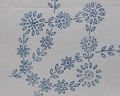 Basket of Flowers  Vintage Iron-on Embroidery Transfer