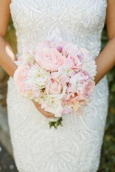 Soft blush bouquet: http://www.stylemepretty.com/little-black-book-blog/2015/05/13/glamorous-romantic-sonoma-summer-wedding/   Photography: Allyson Wiley - http://www.allysonwiley.com/