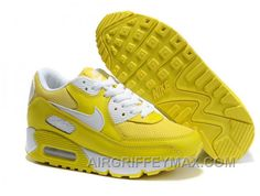 best loved 7cb21 170ae New Arrival 325213-700 Womens Nike Air Max 90 Vibrant Yellow White AMFW0269