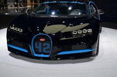 BUGATTI CHIRON - the new, record-breaking car at the 2017 Frankfurt Motor Show (IAA 2017). Check our website for more info on Bugatti's cars.