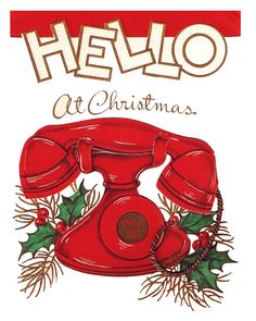 Hello at Christmas! #vintage #cards #cute #Christmas