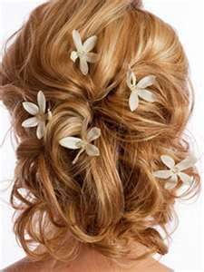 Wedding Updos For Curly Hair | Updos for medium length hair
