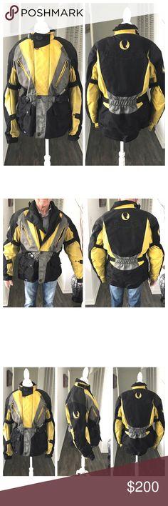 234e54082e5 Men's Authentic Belstaff Motorcycle Zipup Jacket Men's Authentic Belstaff  Motorcycle Zipup Jacket. Black & yellow