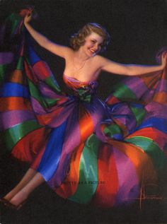 """""""Pretty as a Picture"""" by Rolf Armstrong, 1940s"""
