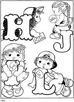 Pintura em Tecido Passo a Passo: Alfabeto com bonecas