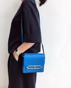 a899f6d791 Roulis 18 Hermes shoulder bag in evercolor calfskin (size Mini) Measures 7