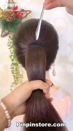 Hairdo For Long Hair, Bun Hairstyles For Long Hair, Girl Hairstyles, Indian Bridal Hairstyles, Headband Hairstyles, Front Hair Styles, Medium Hair Styles, Hair Style Vedio, Hair Quality