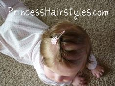 baby hair style with twists... if only I can get her to sit still long enough to do this!