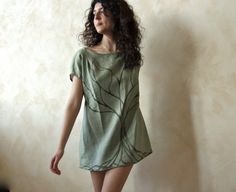 Tree of Rebirth hand painted tunic Tshirt  OOAK by 8fantasie8, €65.00