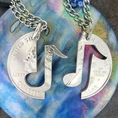 For that person who makes everything groovy, gift this musical note necklace.