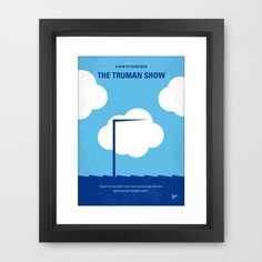 No234 My Truman show minimal movie poster-Frame-950px