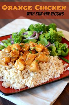 Orange Chicken with Stir-Fry Veggies