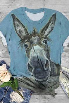 Mom Shirts, T Shirts For Women, Mode Kimono, Foto Gif, Arte Obscura, Shirt Bluse, Horse Print, Going Out Tops, Pics Art