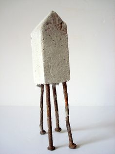 Tiny Giant - concrete and nails by Sharon Pazner, via Flickr