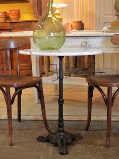 Vintage marble bistro table