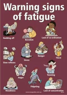 Warning signs of fatigue