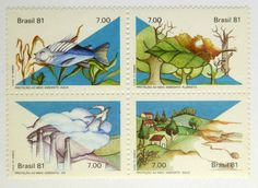 Filatelia: Bloco de Selos - Proteção ao Meio Ambiente - 1981. MINT.