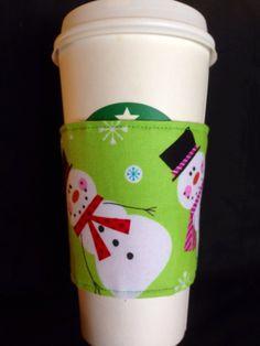 Snowman coffee cozie by KiksNBoo on Etsy, $6.00