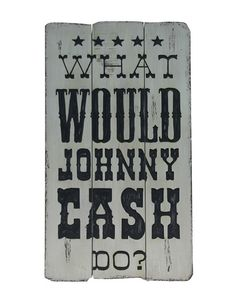 The Johnny Cash Wooden Plaque from Urban Barn is a unique home decor item. Urban Barn carries a variety of Art and other products furnishings. Unique Home Decor, Home Decor Items, Man Crafts, Urban Barn, Wooden Plaques, Johnny Cash, Barn Wood, Diy Art, Wall Art Decor