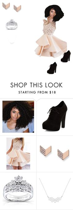 """""""Date night"""" by flygilori ❤ liked on Polyvore featuring New Look, FOSSIL and Kobelli"""