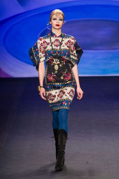 Pin for Later: Get Your Dress Fix With 100 of the Prettiest Autumn Looks Anna Sui Fall 2014