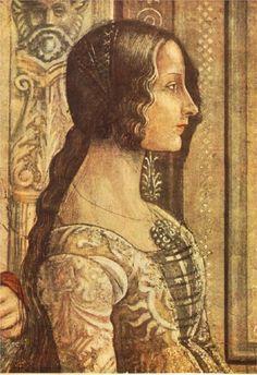 Ludovica Tornabuoni Domenico Ghirlandaio about 1490 Italian Renaissance painting art cosume