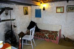 The inside of a Blasket Island Cottage - A Letter from Ireland: Irish Cottage, Old Cottage, Rustic Cottage, Country Cottage Interiors, Images Of Ireland, Old Irish, Irish Decor, Farmhouse Interior, Old Houses
