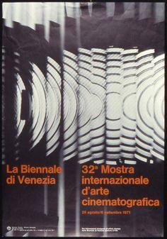 Manifesto Festival del Cinema di Venezia 1971 Locarno Film Festival, Film Festival Poster, Vintage Posters, Mood, Festivals, Identity, Graphics, Design, Art