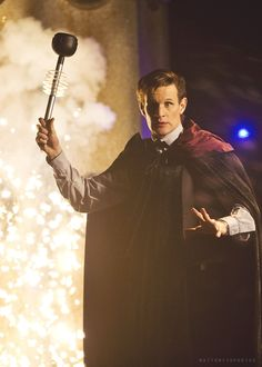 The Doctor in the Christmas Special - he looks like he's auditioning for Harry Potter