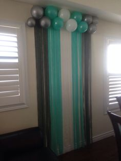 Great Backdrop Idea For A Blue Themed Baby Shower