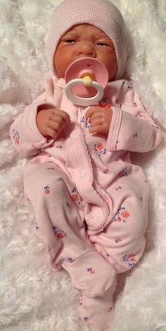 AWW!  BABY GIRL! Berenguer LifeLike Newborn Reborn Pacifier Doll +BOTTLES/EXTRAS #BERENGUER