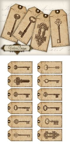 Printable Key Tags by