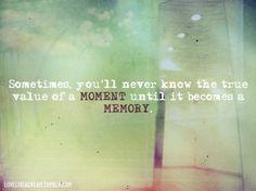 a memory...