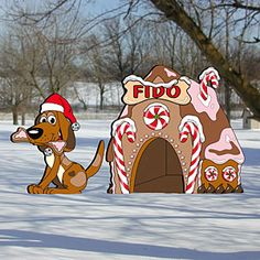 "Gingerbread Doghouse Pattern:  Goes great with our gingerbread collection. 35"" Tall  Pattern #2287  $12.95   ( crafting, crafts, woodcraft, pattern, woodworking, yard art ) Pattern by Sherwood Creations"