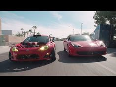 The Ferrari-powered Toyota 86 from the imagination of Ryan Tuerck finally made its public debut at SEMA this past week. Before that? It was doing donuts around a Ferrari 458 Italia. If you think a Toyota 86 powered by a V-8 engine from a Ferrari 458 Italia doing donuts around a Ferrari 458 Italia...